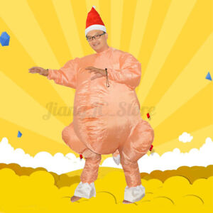 AUS Cosplay Fancy Inflatable Chicken Turkey Party Costume Christmas Adult