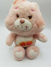 Care Bears Love-A-Lot Bear 13� Plush Stuffed Animal Double Heart Pink Doll 1980s