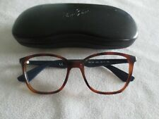 Ray Ban brown / blue glasses frames. RB 7066 5585. With case.