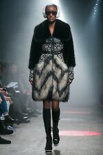 Tracy Reese Faux Fur and Leather Coat