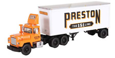 1ST FIRST GEAR 60-0256 'PRESTON THE 151 LINE' MACK R WITH PUP TRAILER *NEW* (OS)