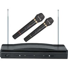 WIRELESS CORDLESS 2 MICS INCLUDED DUAL MIC MICROPHONE SYSTEM BRAND NEW