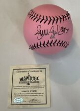 Jennie Finch Autographed/Signed Pink Softball - Guarentee of Authenticity