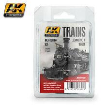 Ak Interactive AKI -7000 Trains Locomotives and Wagons Weathering Set