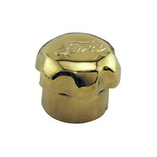 Model T Crankcase Oil Breather Cap, Polished Brass With Ford Script, 1909-1912