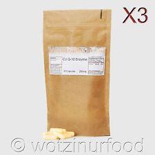 Co Enzyme Q10 CoQ10 200mg, coq10 CoQ-10 Ubiquinone Black Pepper Kraft 3 Pack