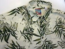 Reyn Spooner Joe Kealoha's  Mens XL Hawaiian Shirt Aloha Beige Palms