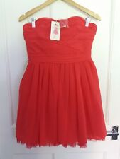 size 12 Geri by Next coral occasion party dress wedding/christening