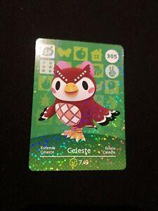 CELESTE ANIMAL CROSSING AMIIBO SERIES 4 CARD #305 TRACKED AU POST geniuine