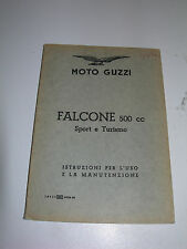 Moto Guzzi Falcone 500 cc Sport and Turismo, manuale , Edition,  1959