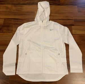 NEW Nike Women's Essential Running Windbreaker Jacket Medium M $90 CU3217 White