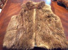 Ultra Rare Southern Natural Beaver Fur Vintage Vest Size M Beca Furs Sturgis Ms