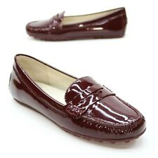 Michael Kors Ladies 8.5 M Daisy Dk Red Patent Leather Slip-on Moc Penny Loafers