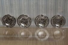 DOLLS HOUSE MINIATURE = 4 Pewter Plates