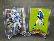 Marvin Harrison Rookie Card Lot (2), 1996 Pinnacle #166 and Select Certified #91