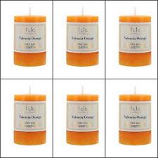 6x Scented Pillar Candle Candles Valencia Orange 5x7.5cm Home Decor