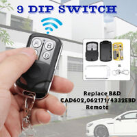 Garage Gate Door Remote Control 433.92 Mhz 9 DIP Switch For B&D Accent CAD602