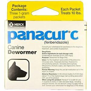 2Pack-Panacur C Canine Dewormer (fenbendazole), 1 gram