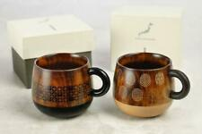 Starbucks Hida Takayama Hand made Wood Mug Sets Japan Limited