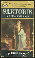 Fiction PB: SARTORIS by William Faulkner. 1953. 1st Signet paperback printing