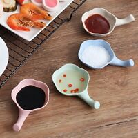 Soy Sauce Dish Multipurpose Leaf-Shape Small Seasoning Saucers Appetize LP
