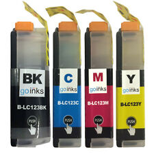4  Ink Cartridges to replace Brother LC123Bk, LC123C, LC123M, LC123Y Compatible