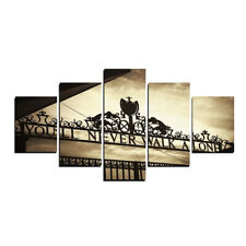 Liverpools You'll Never Walk Alone Canvas Picture Split 5 Panel Wall Art Set UK
