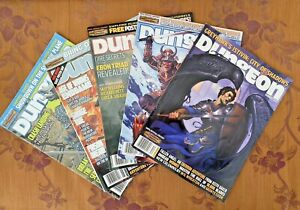 LOT OF 5 VINTAGE OFFICIAL DUNGEONS & DRAGONS MAGAZINES 117 130 131 135 136 EXC!!