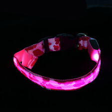 Safety LED Lights Night Dog Neck Strap Camouflage Puppy Cat Pet Flashing Collar