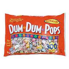 Dum Dum Pops 2 Bags x 300 = 600 Lollipops Suckers Assorted Flavors Bulk Candy