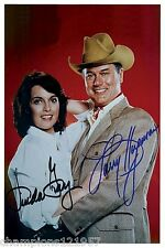 Linda Gray-Larry Hagman++Autogramm++ ++DALLAS++