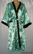 Thai Silk Kimono / Robe / Dressing Gown / Light Green