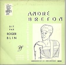 VINYLE ANDRE BRETON DIT PAR ROGER BLIN PIERRE SEGHERS