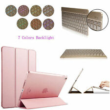 Ultra Slim Magnetic Leather Smart Case Cover &Backlits keyboard for iPad Pro 9.7