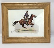 "Frederic Remington A Crow Scout Framed Art Picture Print 15 1/2"" x 18 1/2"""