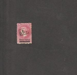 ST HELENA 1864/80 VICTORIA 4d SHORT WORDS 13 mm LONG USED SG # ? CV ? STG