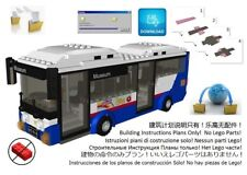 Lego Bus Vehicle Instructions Road Transport Coach Drive Custom Design City Town