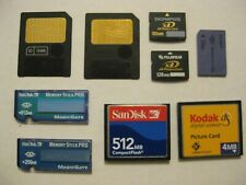 Mix 9 X vintage camera memory card