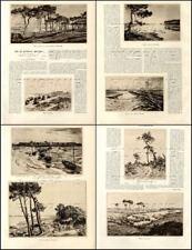4 Pages/Texte-Gravures de 1927 : Le LITTORAL BRETON EAUX FORTES de André DAUCHEZ