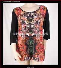 City Chic Digital Blossom Print Winter Top Size 22 (XL)
