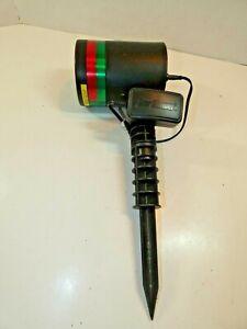 STAR SHOWER Laser Light Red & Green Stars Black Bulb Head Tested