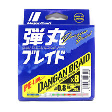 Dangan Braided Line X8 200m P.E 0.8 multi Db8-200/0.8mc/16lb (6208) Major Craft