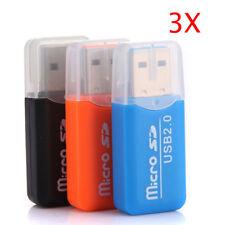 3Pcs 32GB USB High Speed Micro SD T-Flash TF Card Reader Micro Memory Stick Card