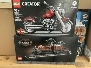 Lego Creator Expert 10269 Harley Davidson & 10277 Crocodile Locomotive Bnisb