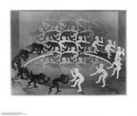 M C ESCHER ~ ENCOUNTER 22x26 FINE ART POSTER MC M.C. NEW/ROLLED!