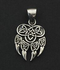 Pendentif Patte Ours Viking Celte Talisman Argent massif 925 2.2g 26366
