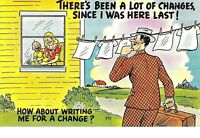 """VINTAGE 1930-40's Comic """"THERE'S Been A LOT Of Changes Since I Was Here LAST """"PC"""