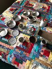 18 Pc. Vintage Kids Aluminum Kitchen Set Playware
