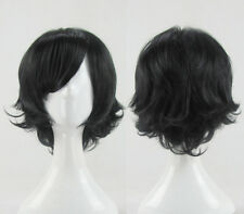 New Fashion Short layered Anime Black Cosplay Party Wig Ranbo Wig + Wig Cap