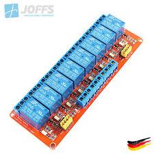 8-Kanal 12V Relais Modul mit Optokoppler für u.a. Arduino (8Ch High/Low Trigger)
